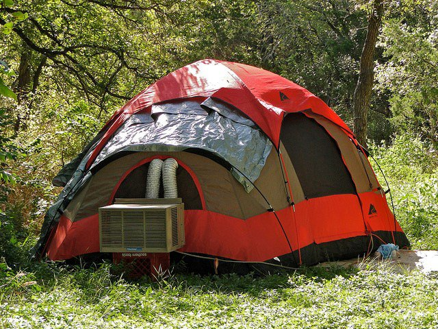 camping tent ac