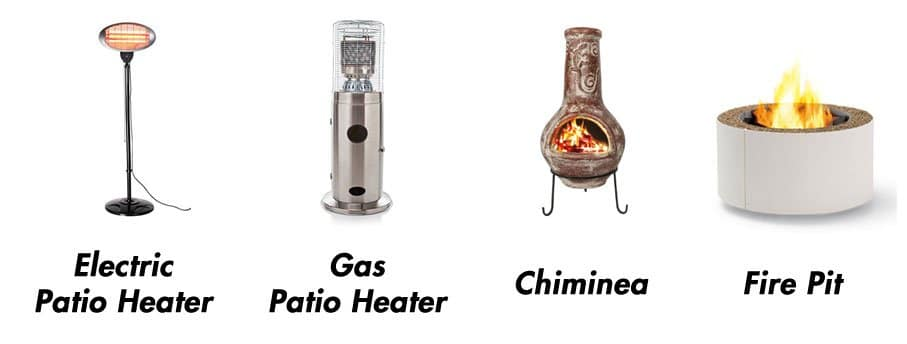 patio heater types