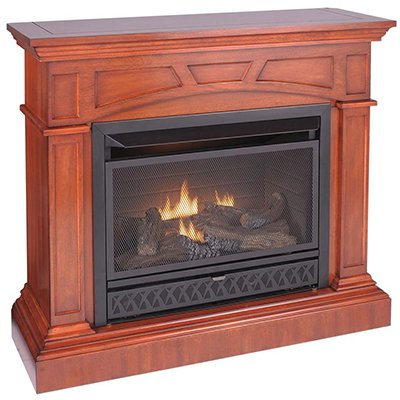 "Emberglow 43"" Convertible Vent-Free Dual Fuel Fireplace"