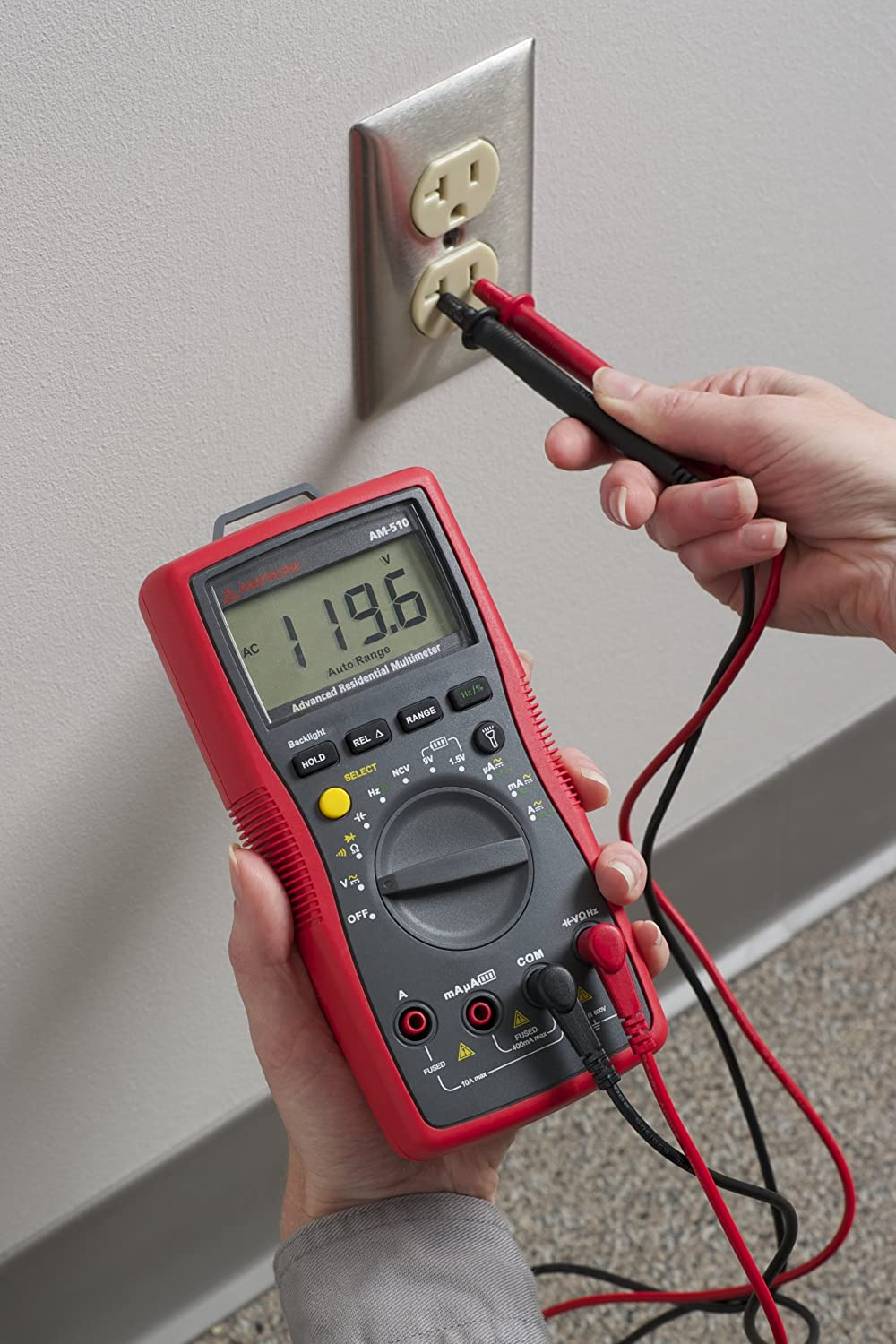 Multimeter with Non-Contact Voltage Detection