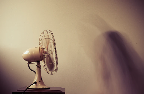 bedroom fan on table