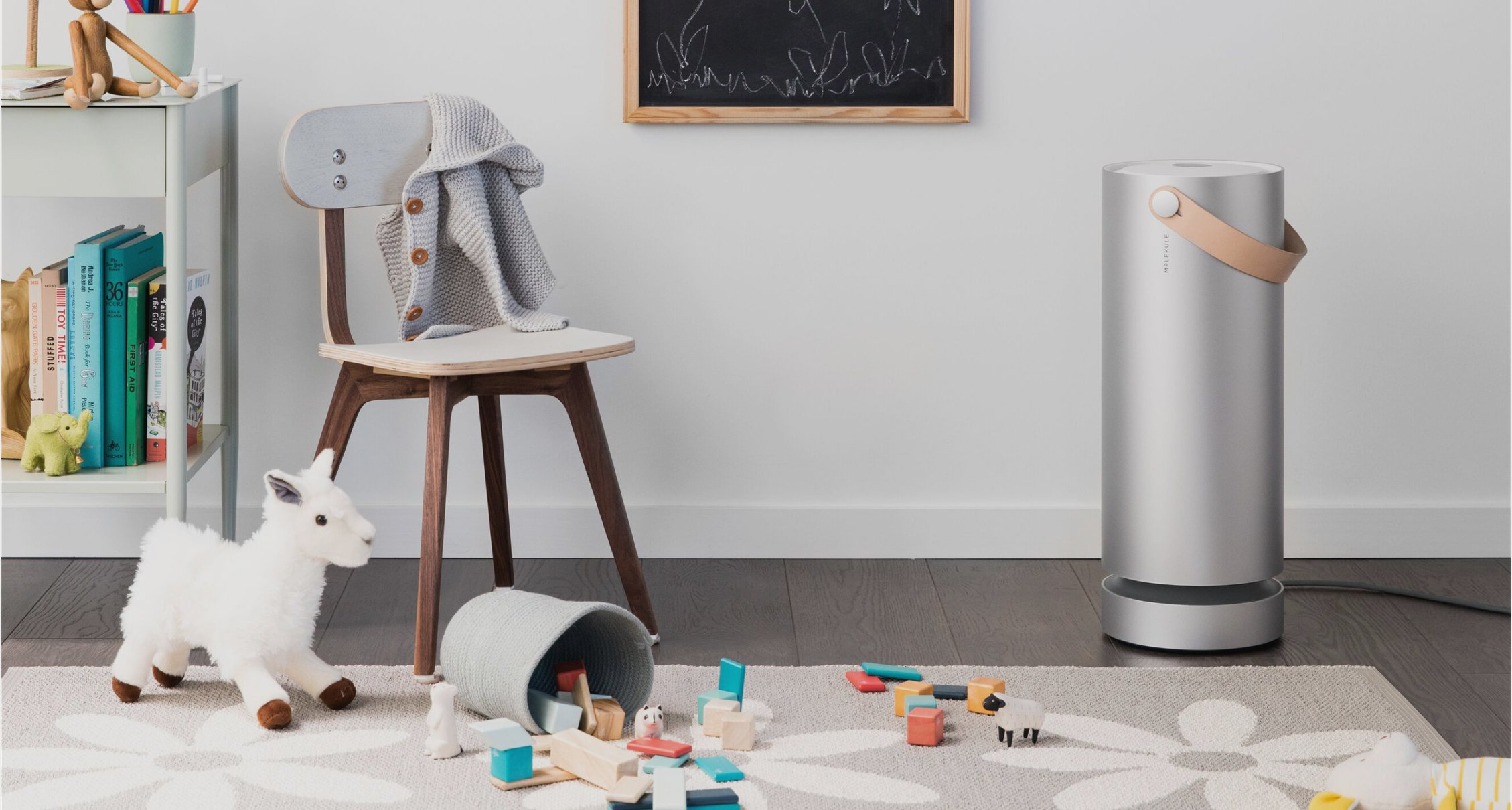 Molekule Air Purifier in Room