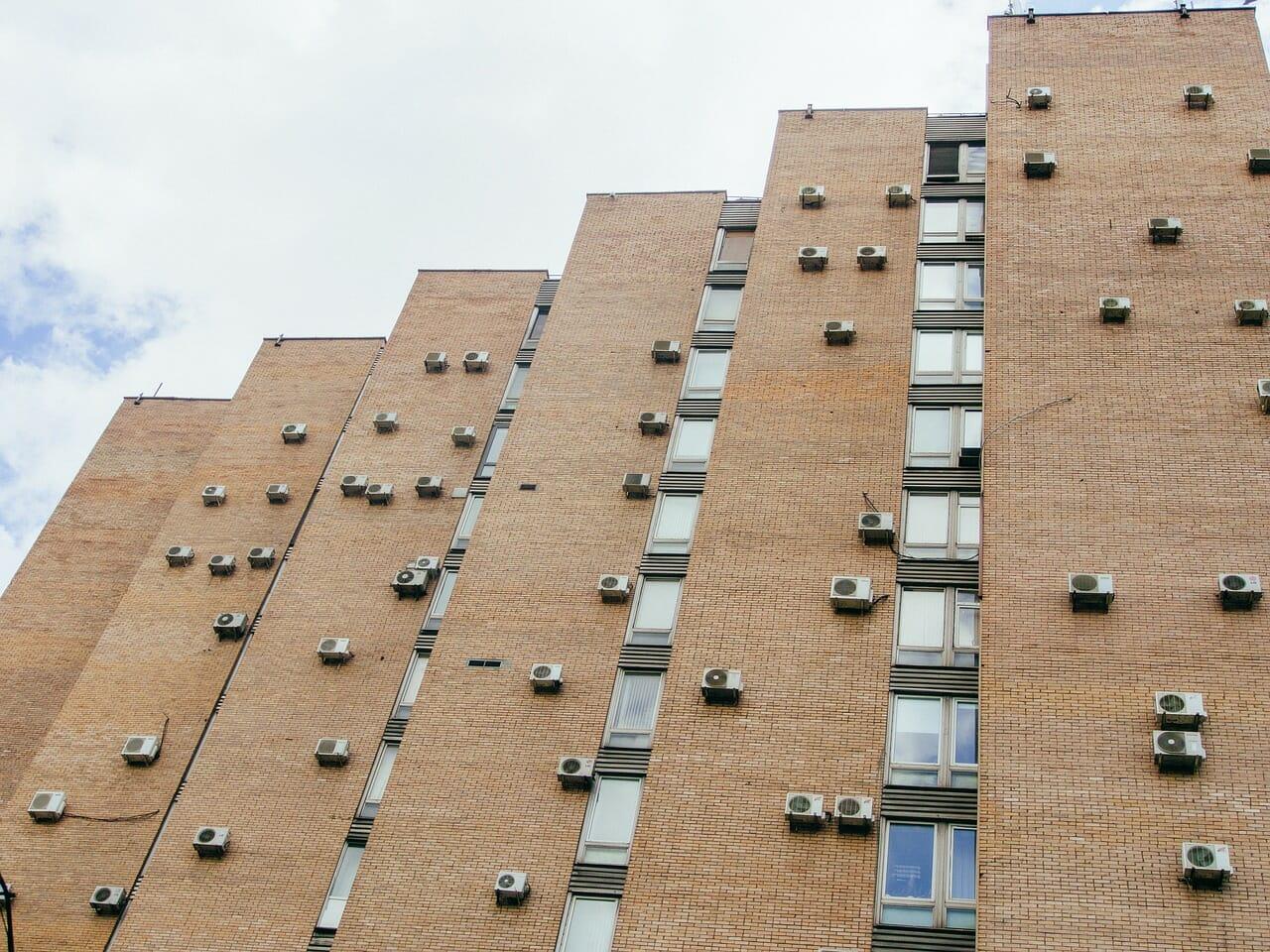 Building with Several Mini Split AC Units