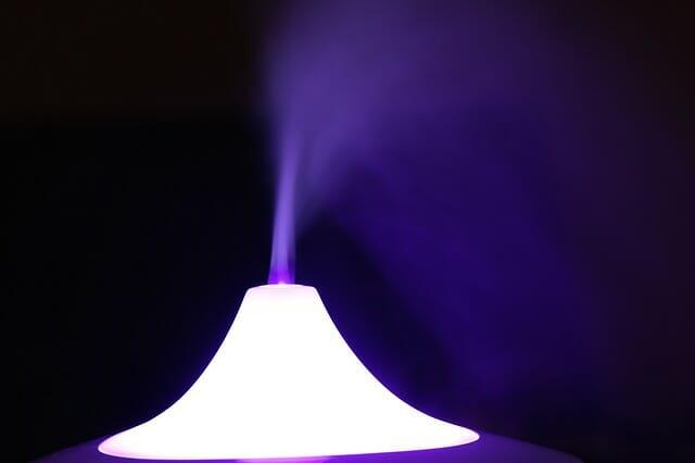Purple Mist from Humidifier