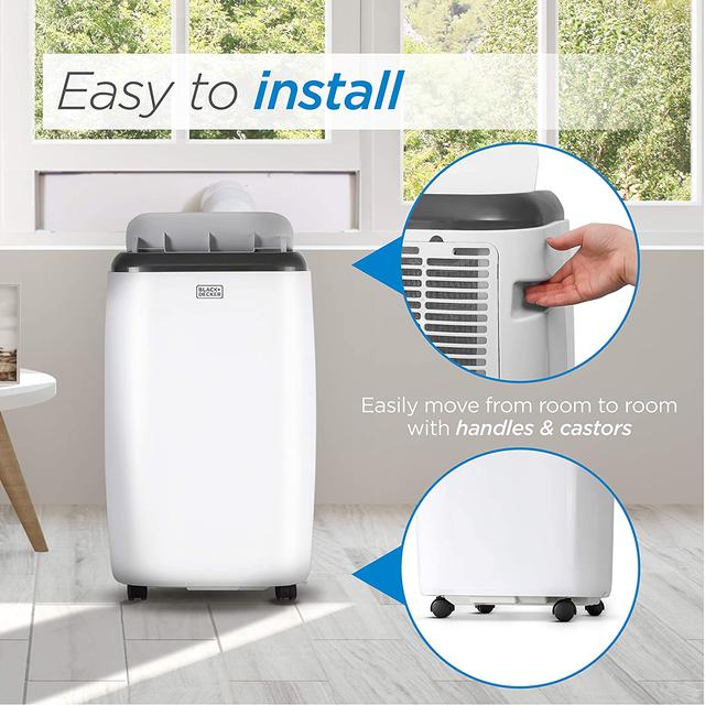 BLACK+DECKER BPACT12WT Portable Air Conditioner with Remote Control Installation