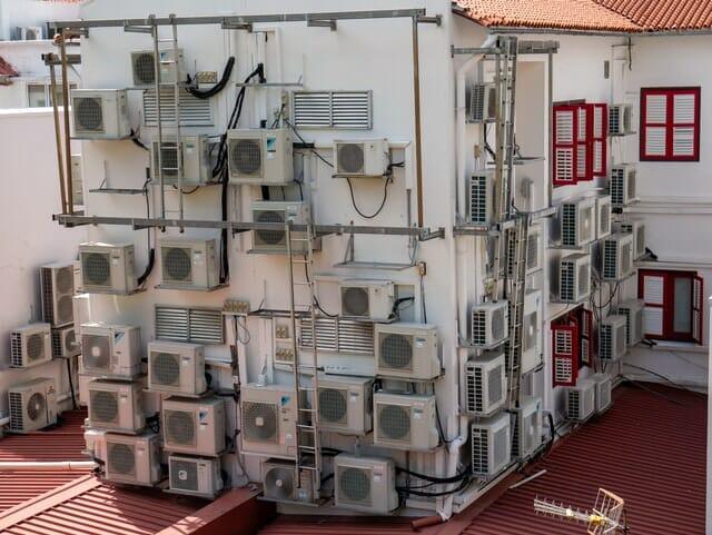 Building Apartment with Split Air Conditioner